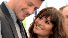 Glee stars Lea Michele and Cory Monteith pose for photographers at the Do! Something Awards on Aug. 19, 2012. - Provided courtesy of Jason Merritt / Getty Images