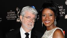 George Lucas and then-fiance Mellody Hobson attend the 40th annual Daytime Emmy Awards in Beverly Hills, California on June 16, 2013. They wed six days later. On Aug. 9, they welcomed their first child together, a baby girl. - Provided courtesy of Sara De Boer / startraksphoto.com