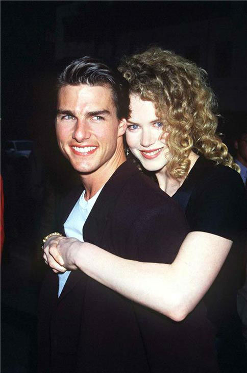 Nicole Kidman and Tom Crusie appear at the screening of 'Far and Away' on May 21, 1992.