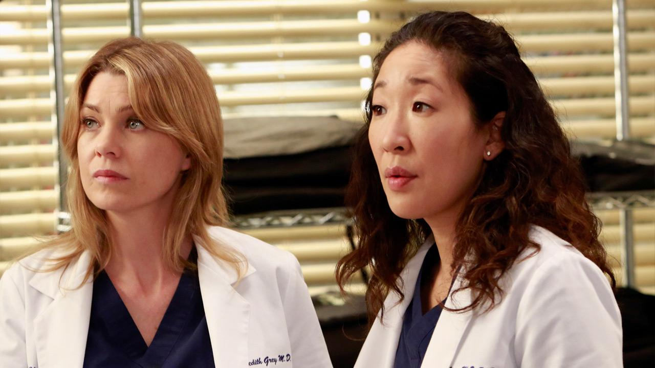 Sandra Oh and Ellen Pompeo appear in a scene from the Greys Anatomy episode  Shes Killing Me, which aired on April 4, 2013.