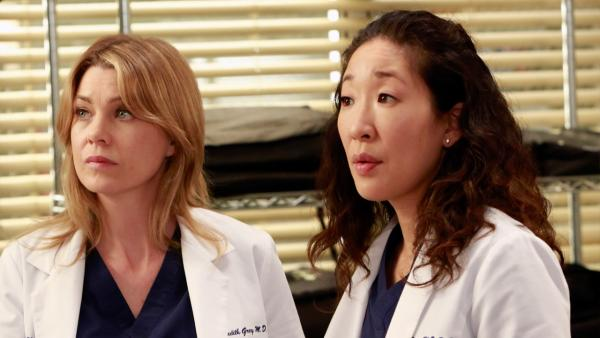 Sandra Oh and Ellen Pompeo appear in a scene from the Greys Anatomy episode  Shes Killing Me, which aired on April 4, 2013. - Provided courtesy of ABC/Ron Tom