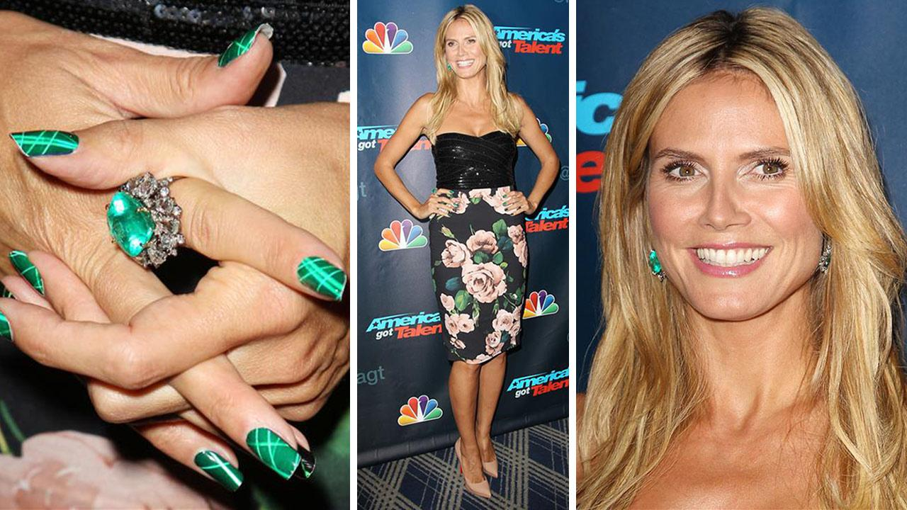 Heidi Klum appears at an Americas Got Talent post-show celebration at Radio City Music Hall in New York City on Aug. 14, 2013. She is one of four judges on the NBC show.