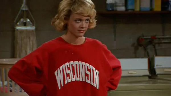 Lisa Robin Kelly appears in a scene from the FOX show 'That '70s Show.'