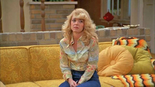 Lisa Robin Kelly appears in a scene from the FOX show That 70s Show. - Provided courtesy of Carsey-Werner-Mandabach Productions / FOX