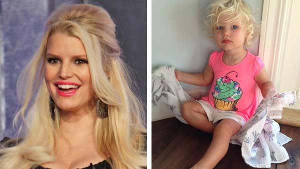 Jessica Simpson posted a photo of daughter Maxwell on Twitter to share with her over 6 millions followers. - Provided courtesy of ABC/Randy Holmes and Jessica Simpsons Official Twitter Page