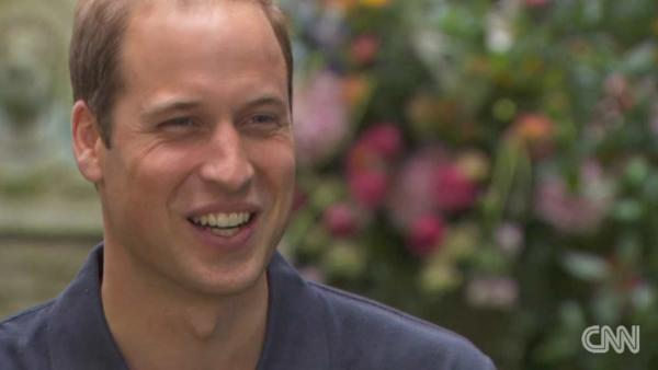 Prince William spoke about fatherhood and life with new son George for the special Prince Williams Passion: New Father, New Hope airing Sept. 15 on CNN. - Provided courtesy of CNN