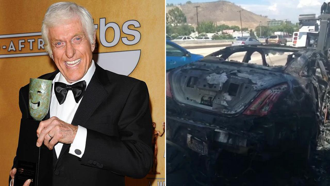 Dick Van Dyke, 87, appears at the 2013 SAG Awards in Los Angeles on Jan. 27, 2013. / Van Dykes car as seen in the Vine his wife, Arlene Van Dyke, posted on Aug. 19, 2013.