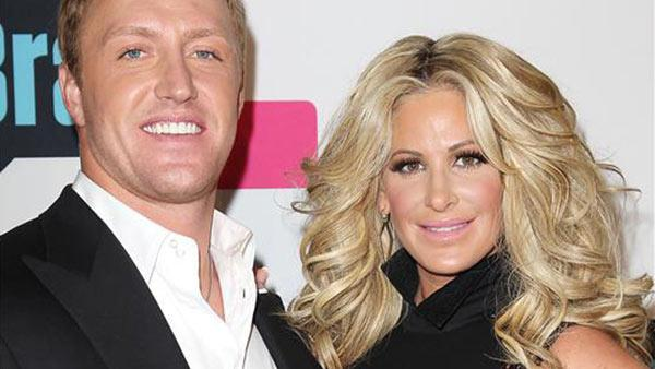 Kim Zolciak and Kroy Biermann attend the Bravo TV Upfronts 2013 event at Pillars 37 Studios in New York on April 3, 2013. - Provided courtesy of Kristina Bumphrey / Startraksphoto.com