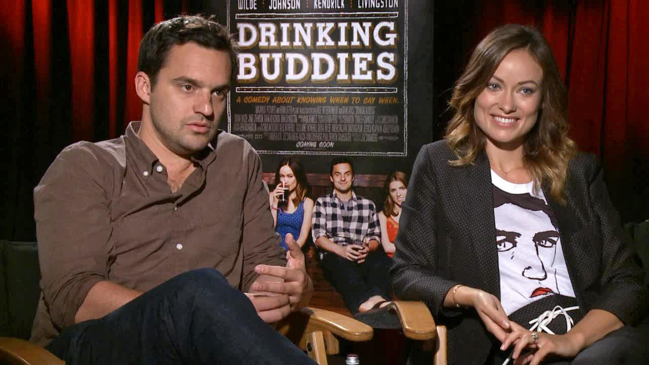 Olivia Wilde and Jake Johnson appear in an interview with OTRC.com on Aug. 15, 2013.