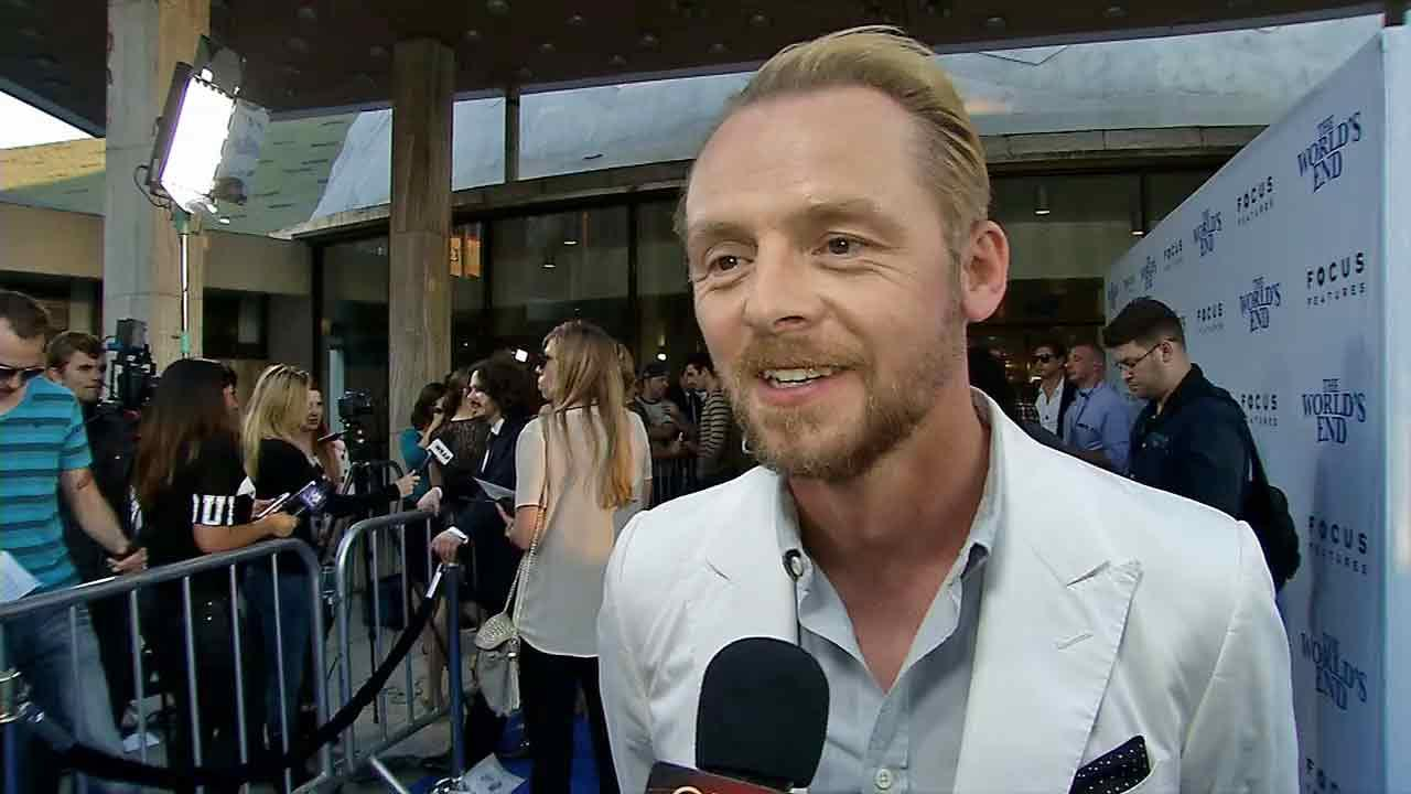 Simon Pegg talks quitting drinking for his daughter at the premiere of The Worlds End in Los Angeles (August 2013).