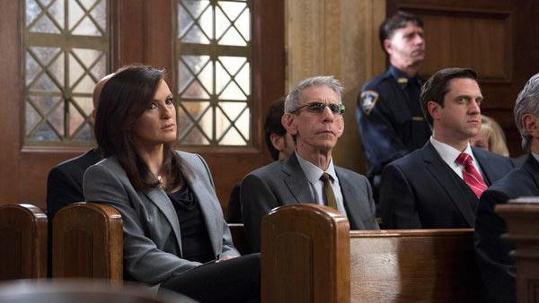 Mariska Hargitay, Richard Belzer and Raul Esparza appear in a scene from the Law & Order: Special Victims Unit episode Undercover Blue, which aired on March 20, 2013. - Provided courtesy of Michael Parmelee/NBC