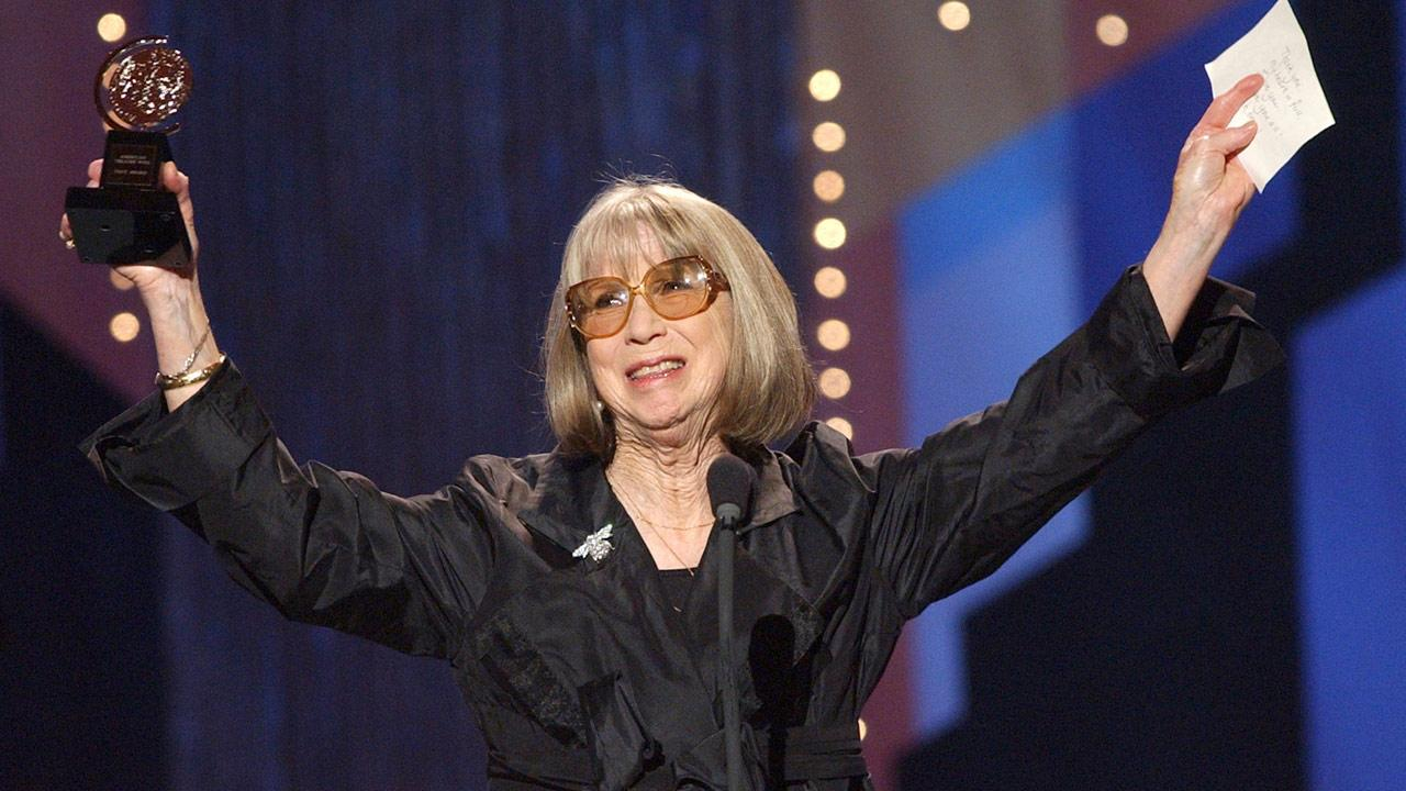 File-This June 2, 2002 file photo shows Julie Harris celebrating her special Tony Award for Lifetime Achievement in the Theatre during the 56th annual Tony Awards at New Yorks Radio City Music Hall. <span class=meta>(Suzanne Plunkett, File)</span>