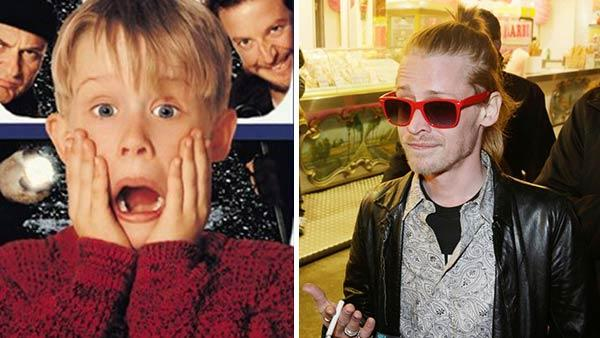 Macaulay Culkin appears in a promotional photo for 'Home Alone.' / Macaulay Culkin attends the opening of the Foire du Trone amusement park in Paris, France on March 29, 2013.