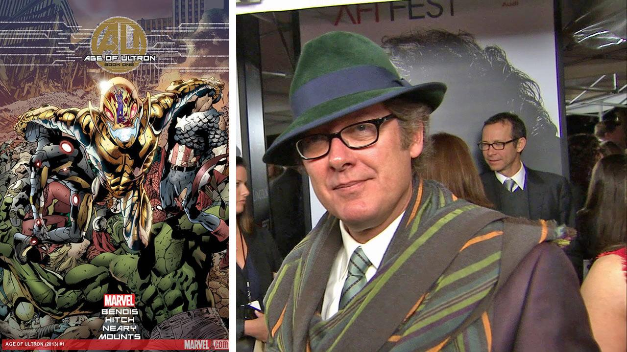 The cover of an Age of Ultron comic book. / James Spader talks to OTRC.com at the premiere of Lincoln at Graumans Chinese Theatre during AFI Fest in Hollywood on Nov. 8, 2012.