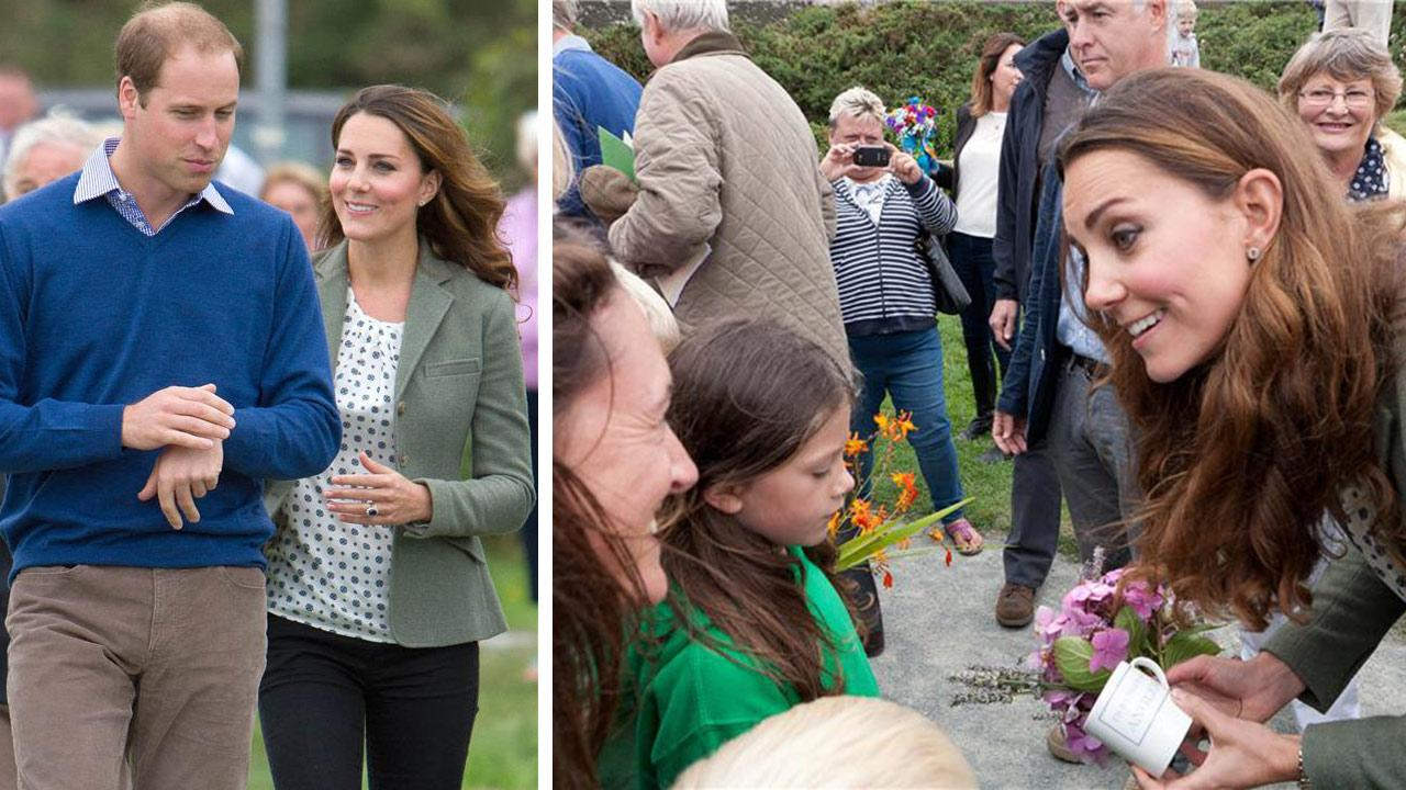 Kate Middleton greets fans at the Ring OFire Anglesey Coastal Ultra Marathon in Holyhead, Wales on August 30, 2013.