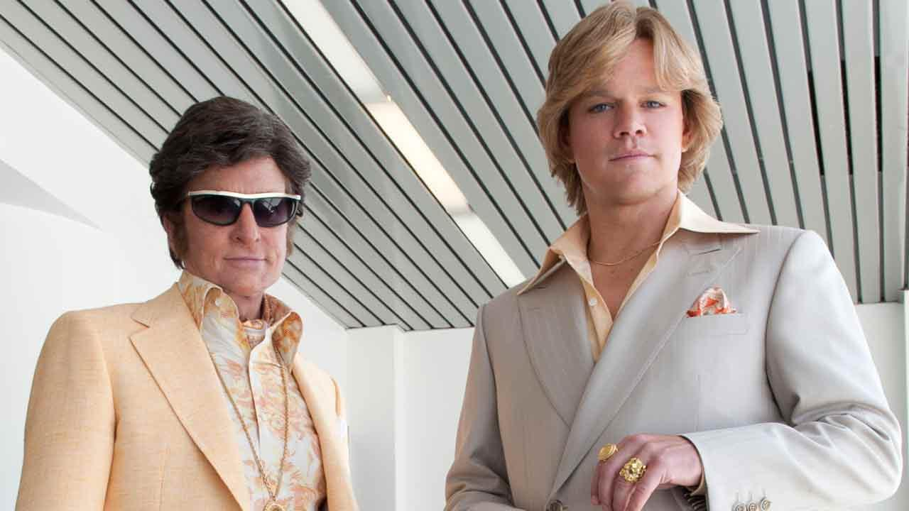 Michael Douglas and Matt Damon appear in a promotional still from the HBO movie Behind The Candelabra.