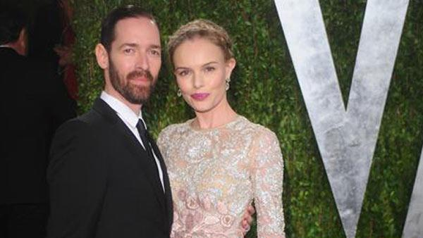 Kate Bosworth and Michael Polish appear at Vanity Fair's 2013 Oscar Party on Feb. 24, 2013.