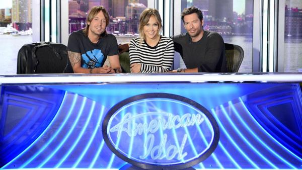 L-R: Keith Urban,Jennifer Lopez and Harry Connick Jr. appear in a September 2013 photo for the season 13 of American Idol. - Provided courtesy of Michael Becker / FOX