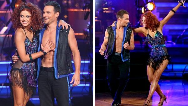 Anna Trebunskaya and dance partner Drew Lachey competing during the All-Star season of Dancing With The Stars in Fall 2012. - Provided courtesy of ABC / Adam Taylor