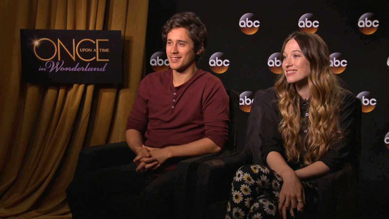 Sophie Lowe and Peter Gadiot star in the upcoming ABC series Once Upon A Time In Wonderland.