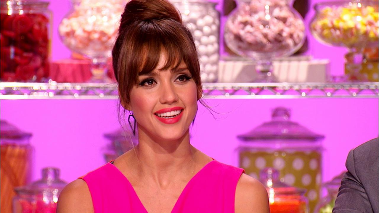 Jessica Alba appears on a Sept. 7, 2013 episode of the Food Network show Cupcake Wars.