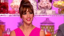 Jessica Alba appears on a Sept. 7, 2013 episode of the Food Network show Cupcake Wars. - Provided courtesy of Food Network / Scripps Networks