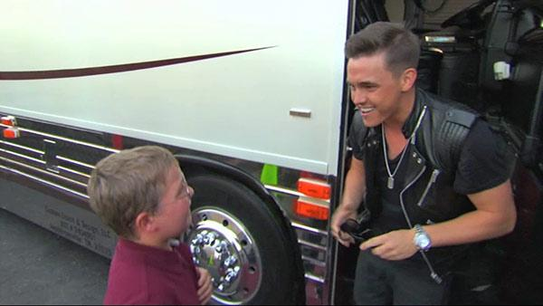 Jesse McCartney reunites with a special fan -- 11-year-old cancer survivor Tyler Cordova, on Sept. 5, 2013.