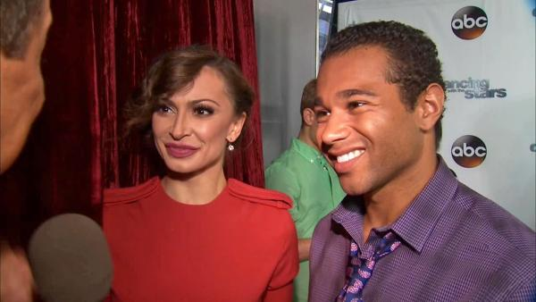 Corbin Bleu and Karina Smirnoff appear in an interview with OTRC.com on Sept. 4, 2013.