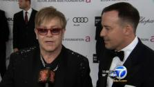 Elton John talks to OTRC.com after the 2012 Oscars. - Provided courtesy of OTRC
