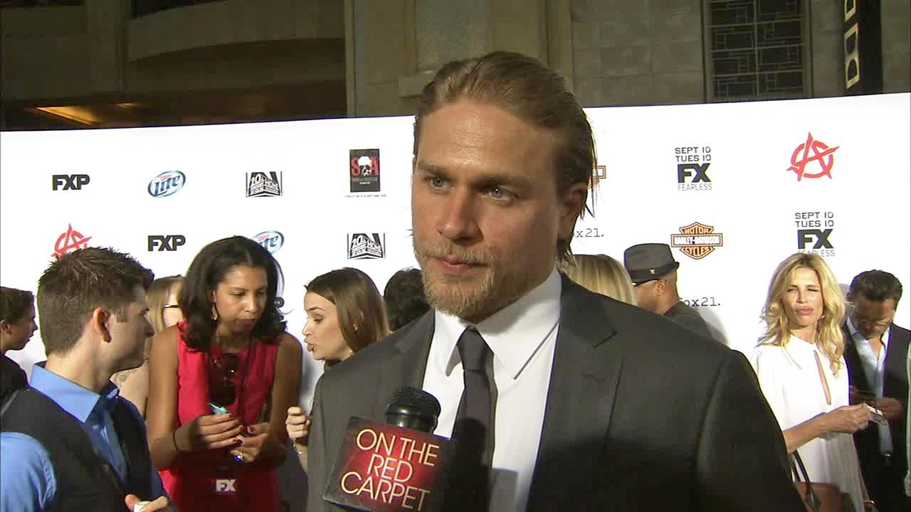 Charlie Hunnam appears in an interview with OTRC.com at the premiere of season 6 of Sons of Anarchy on Sept. 7, 2013.
