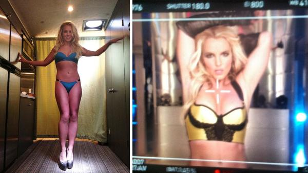 Britney Spears appears in photos posted on her Twitter and Instagram pages on Sept. 8 and Sept. 7, 2013.