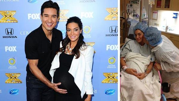 Mario Lopez and wife Courtney Mazza appear at The X Factor Season 3 Premiere Party on Sept. 5, 2013. Mario Lopez and wife Courtney Mazza appear in a photo posted on Lopez's official Twitter account on Sept. 9, 2013.