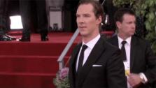 Benedict Cumberbatch walks the red carpet at the 2013 Golden Globe Awards on Jan. 13, 2013. - Provided courtesy of OTRC