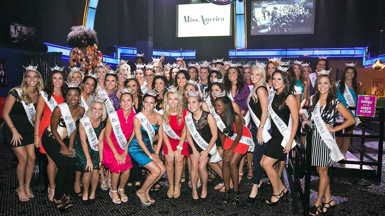Miss America 2014 contestants pose for a photo ahead of the Nov. 15, 2013 pageant.