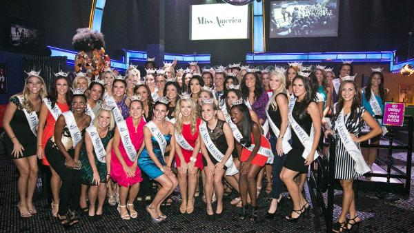 Miss America 2014 contestants pose for a photo ahead of the Nov. 15, 2013 pageant. - Provided courtesy of Miss America Organization