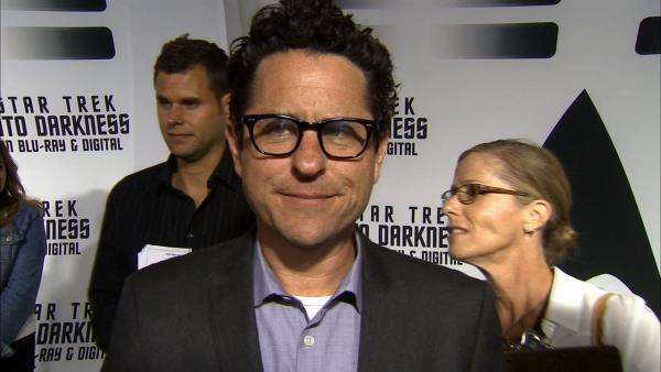 J.J. Abrams talks to OTRC.com at a party celebrating the release of the Star Trek DVD at the California Science Center in Los Angeles on Sept. 10, 2013.