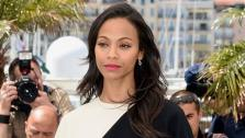 Zoe Saldana appears at the Blood Ties photocall at the 66th annual Cannes Film Festival held at the Palais des Festivals in Cannes, France, on May 20, 2013. - Provided courtesy of John P. De Graeve/Startraks.com