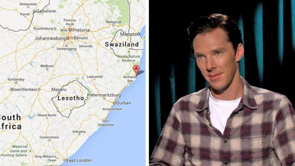 A map of South Africas east coast, as seen on Google Maps. / Benedict Cumberbatch talks to OTRC.com about The Fifth Estate film at the 2013 Toronto Film Festival on Sept. 7, 2013. - Provided courtesy of Google Maps / OTRC.com