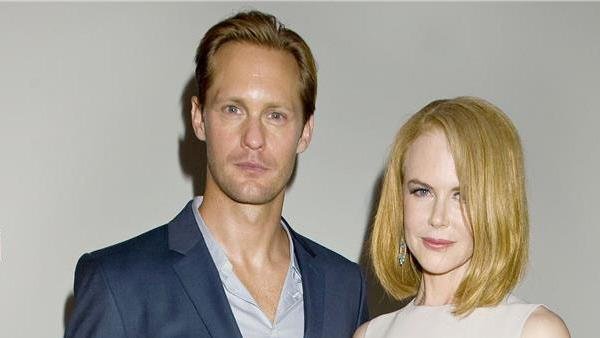 True Blood star Alexander Skarsgard poses with actress Nicole Kidman at the Spring 2014 Calvin Klein Fashion Show during Mercedez-Benz Fashion Week in New York on Sept. 12, 2013. - Provided courtesy of Justin Campbell / Startraksphoto.com