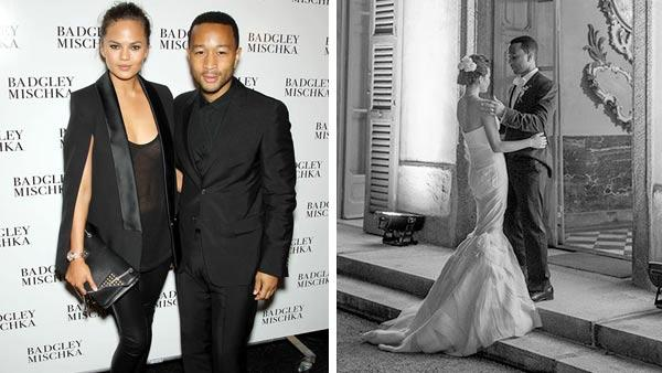 John Legend and Chrissy Teigen appear at the Badgley Mischka show during Spring 2014 Mercedes-Benz Fashion Week in New York City on Sept. 10, 2013. John Legend and Chrissy Teigen appear in a photo posted on Legends official Tumblr page on Sept. 15, 2013. - Provided courtesy of Marion Curtis / startraksphoto.com / johnlegend.tumblr.com