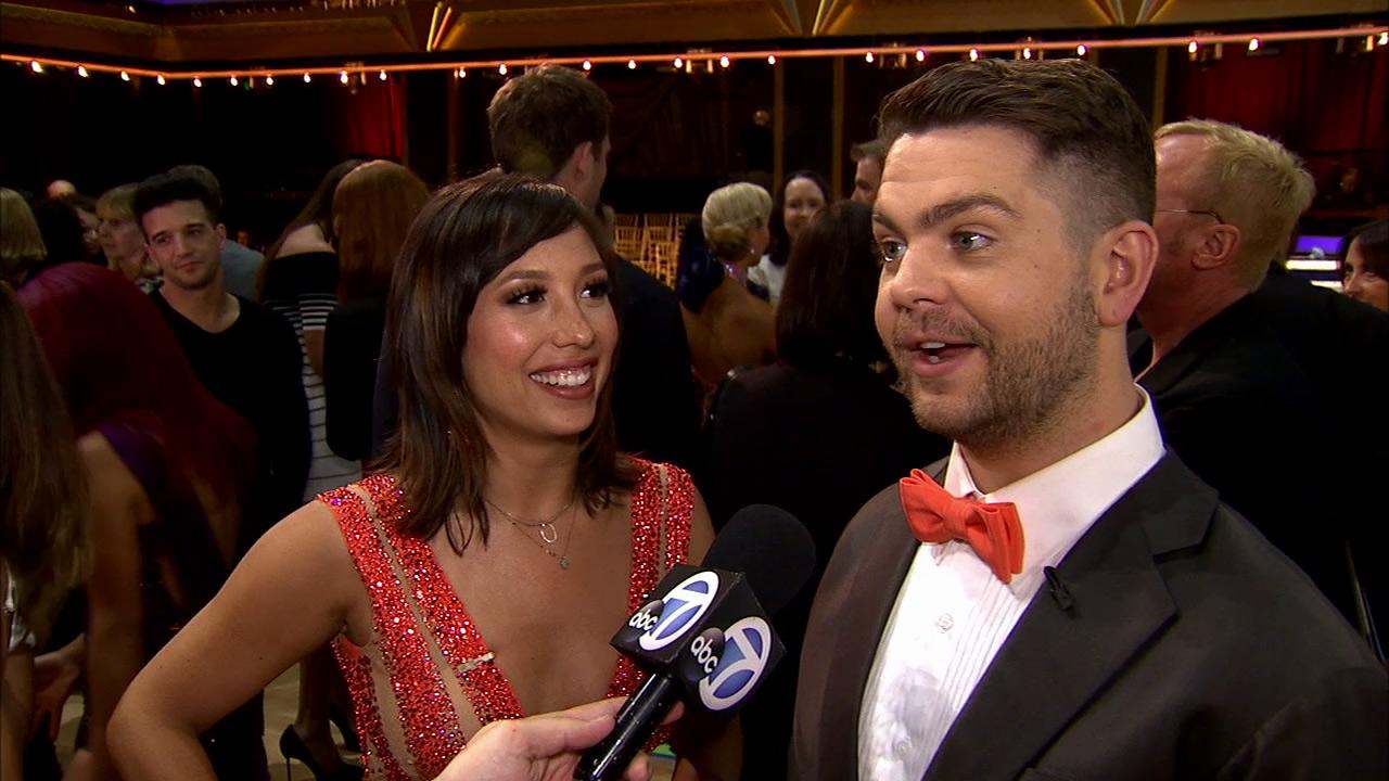 Jack Osbourne and Cheryl Burke talk to OTRC.com after week 1 on Dancing With The Stars on Sept. 16, 2013.