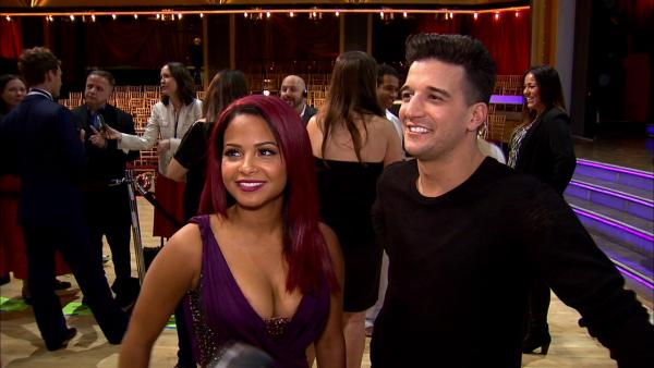 Christina Milian and Mark Ballas talk to OTRC.com after week 1 on 'Dancing With The Stars' on Sept. 16, 2013.