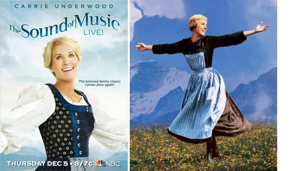 Carrie Underwood appears as Maria in an official poster for NBCs The Sound of Music, released on Sept. 16, 2013. The special airs on Dec. 5. - Provided courtesy of NBC