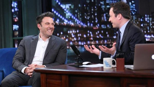 Ben Affleck appears on Late Night with Jimmy Fallon on Sept. 16, 2013. - Provided courtesy of Lloyd Bishop/NBC