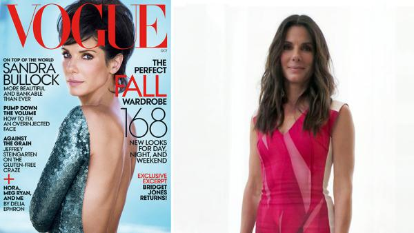 Sandra Bullock appears on the cover of Vogue magazines October 2013 issue. - Provided courtesy of OTRC / Peter Lindbergh / Vogue / Munawar Hosain / Startraksphoto.com