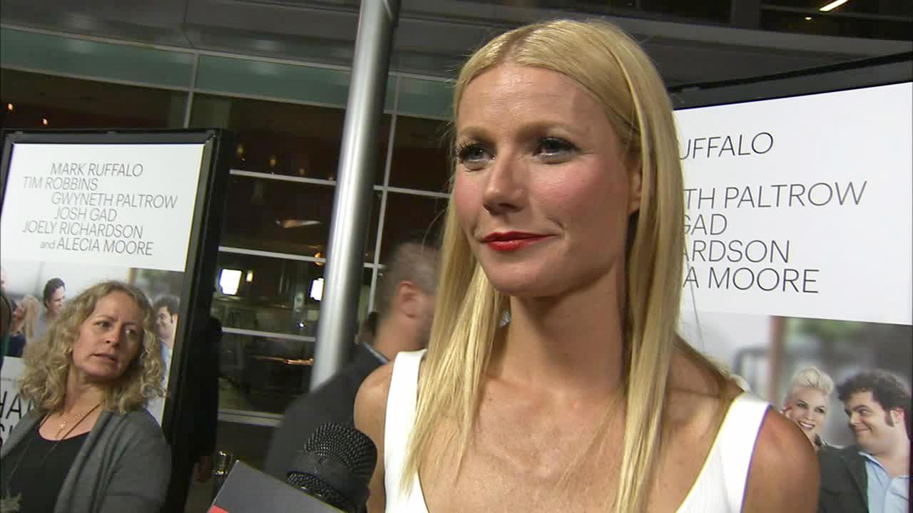 Gwyneth Paltrow talks to OTRC.com at the premiere of Thanks for Sharing on Sept. 16, 2013.