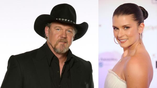 Co-hosts Trace Adkins and Danica Patrick appears in a publicity photo for the 2013 American Country Awards, set to air on FOX on Dec. 10, 2013. - Provided courtesy of Phil McCarten / PictureGroup / FOX