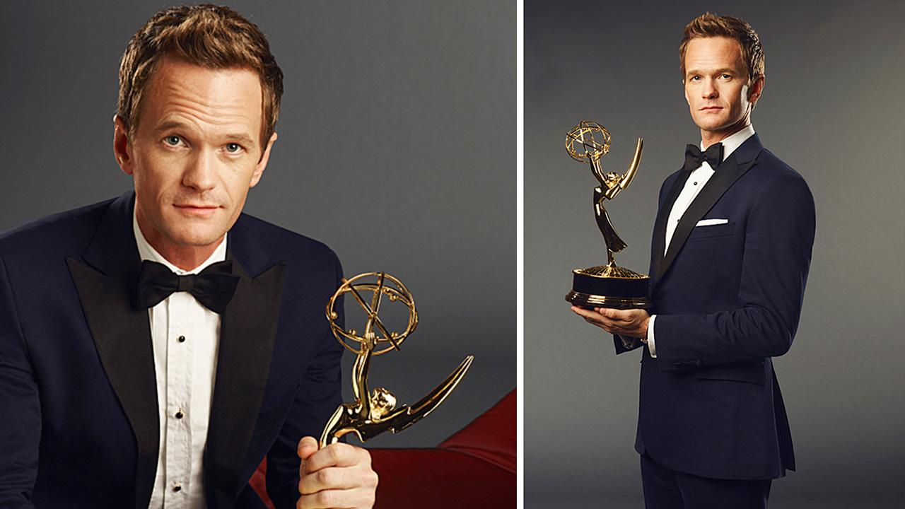 Neil Patrick Harris holds an Emmy statuette in a publicity photo for the 65th Primetime Emmy Awards. The ceremony airs on Sept. 22, 2013 on CBS.