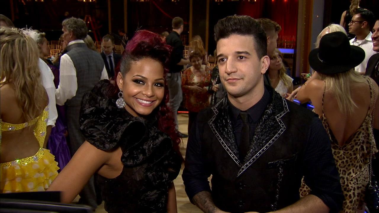 Christina Milian and Mark Ballas talk to OTRC.com after week 2 on Dancing With The Stars on Sept. 23, 2013.