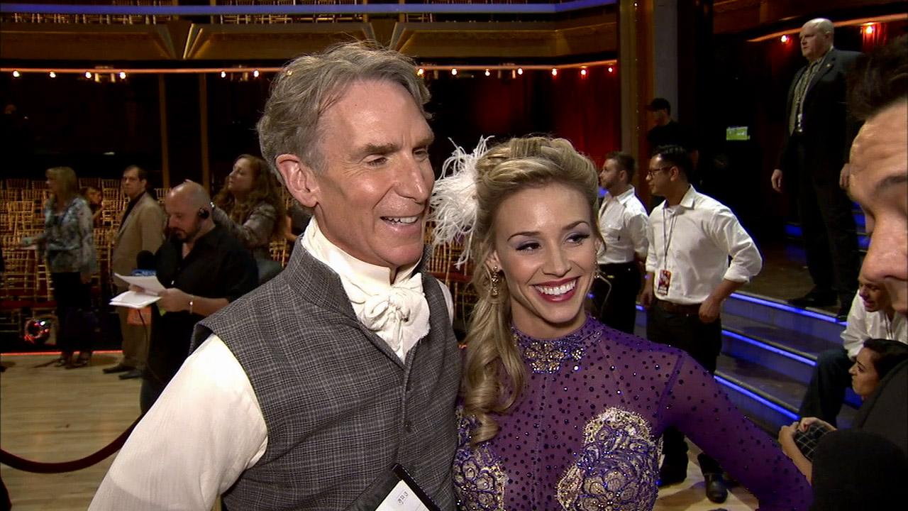 Bill Nye and Tyne Stecklein talk to OTRC.com after week 2 on Dancing With The Stars on Sept. 23, 2013.